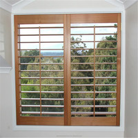 Unique German wooden carving Window Plantation shutters from China