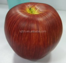 Hot sale artificial dark red apple for sale, artificial apple for decoration
