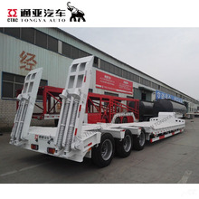 china low bed truck trailer for transport heavy duty equipment