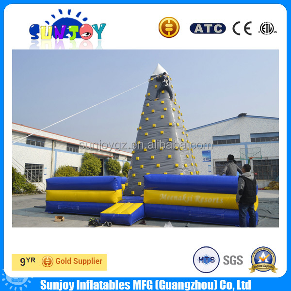 Adventure Climbing Games Commercial Inflatable Rock Climbing Wall