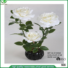 Cheap Wholesale High Quality Rose Artificial Flowers For Wedding Decoration,Fabric rose flower