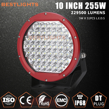 Auto Accessories Foshan 10inch 255w Car Led Working Light, Factory IP68 255W Auto LED Car Light, Spot Beam Car LED Wrok Lamp
