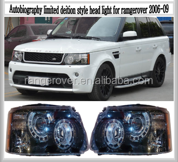 range*rover sport head lamp,Autobiography limited deition style head light for 2009 rangerover sport