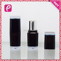 Black square lip stick container for lipstick tube