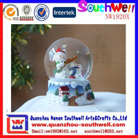 cheap resin snowman glass inflatable christmas decorative snow globe