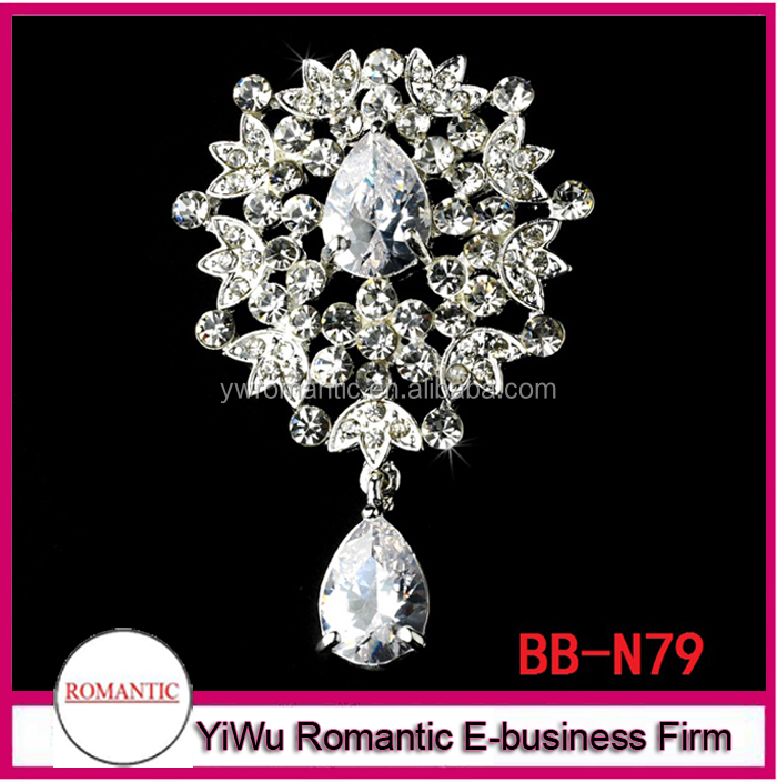 Factory wholesale hot sale crystal bridalwedding rhinestone brooch