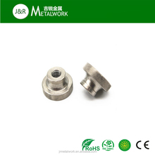 Low price M2 M2.5 M3 carbon steel zinc plated Knurled nuts with collar DIN466