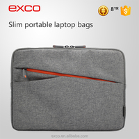 EXCO polyester lining water repellent blending nylon slim soft shell 13 inch custom laptop sleeve for MacBook