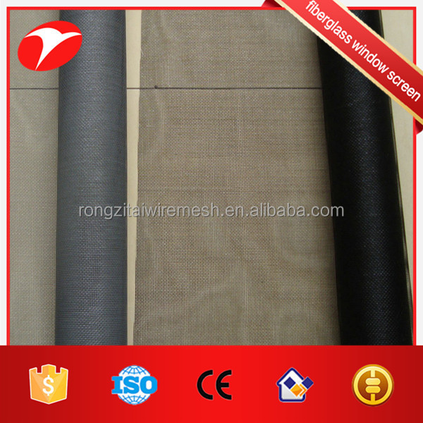Plastic fiberglass window screen for security