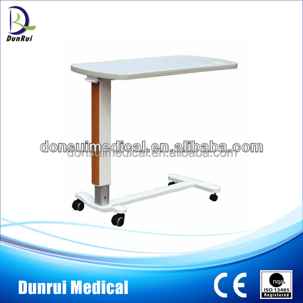 DR-396-1 CE Approved ABS Overbed Bed Table for Hospital