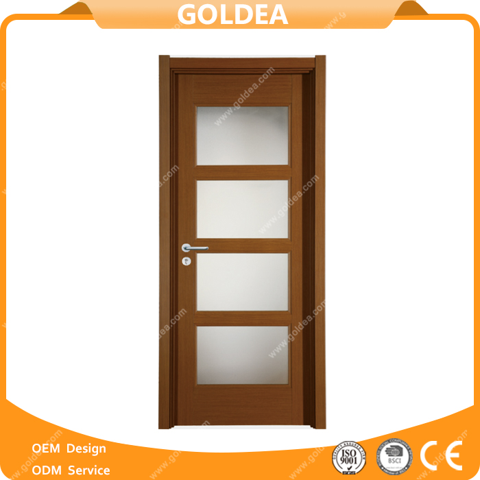 Goldea new design wooden composite door bedroom