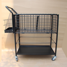 wholesale tennis ball cart stacking rack with wheel mobile food carts