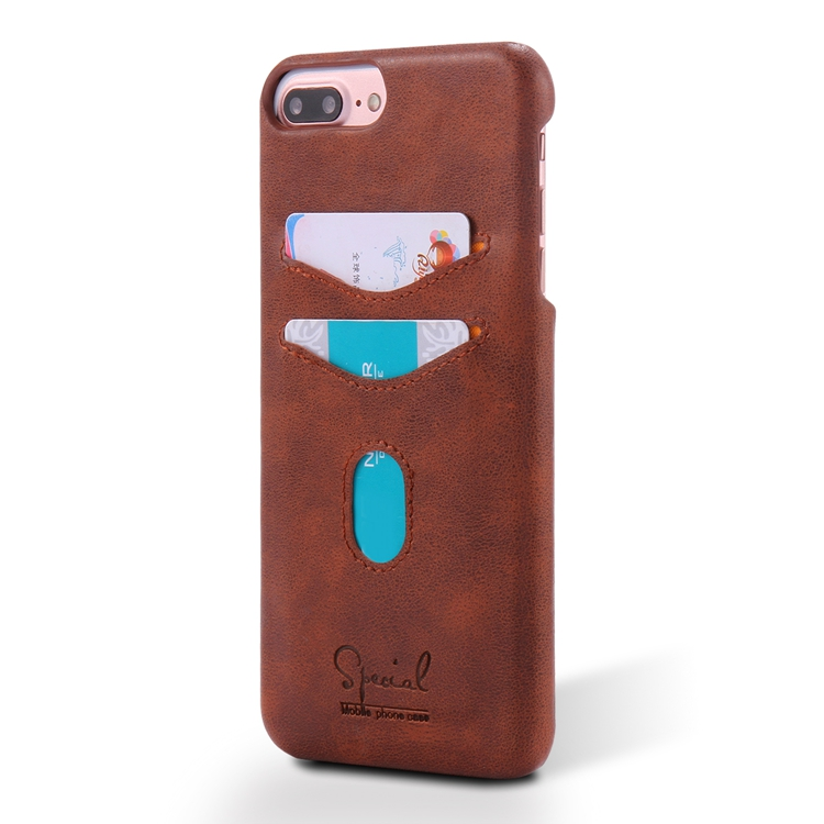 For iphone 7 leather case, New Fashion Genuine Real Leather Back Cover Phone Case for iPhone 7plus