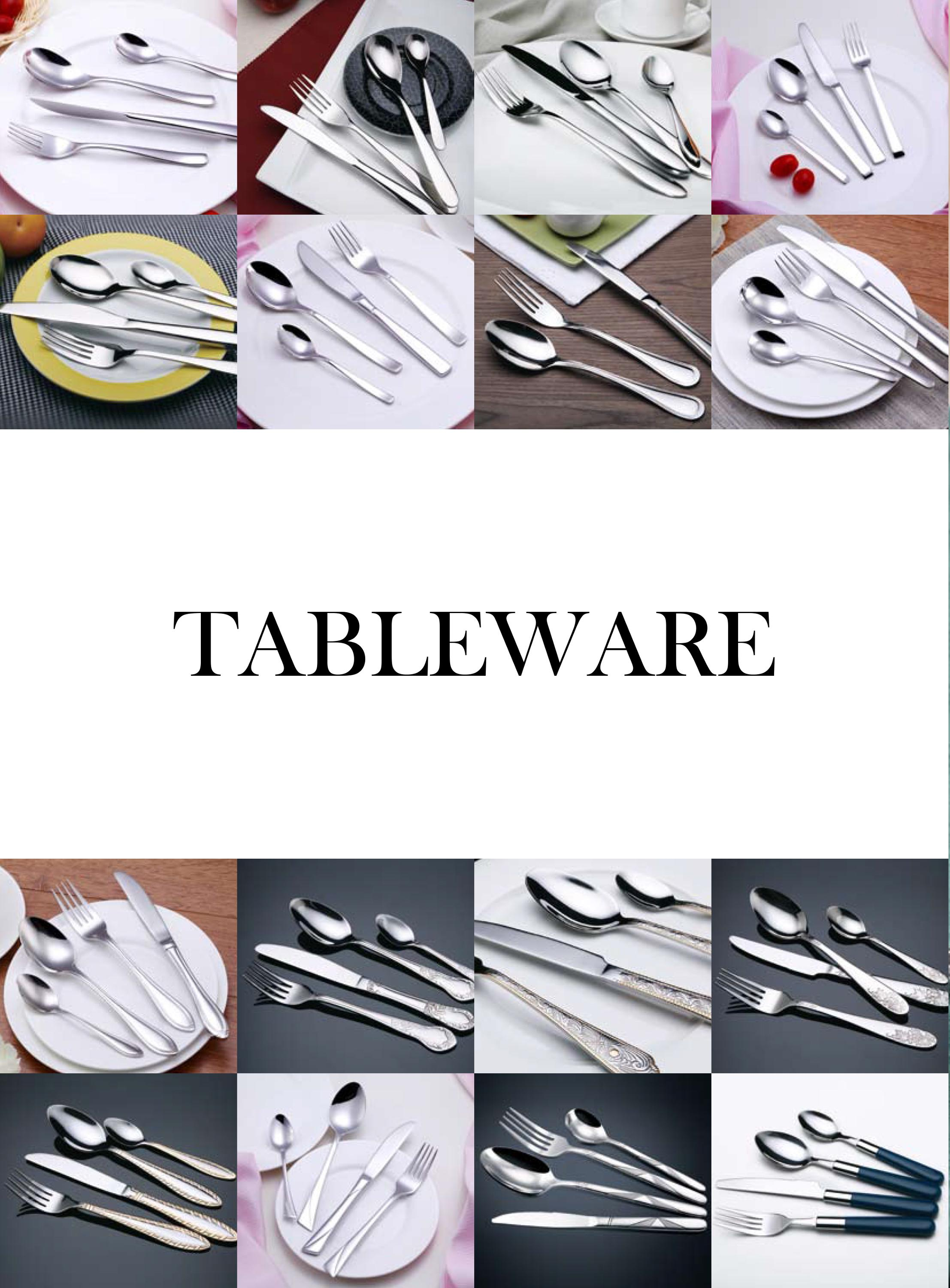 Guangzhou Hotel Restaurant Home Customized tableware Stainless Steel Spoon and Fork