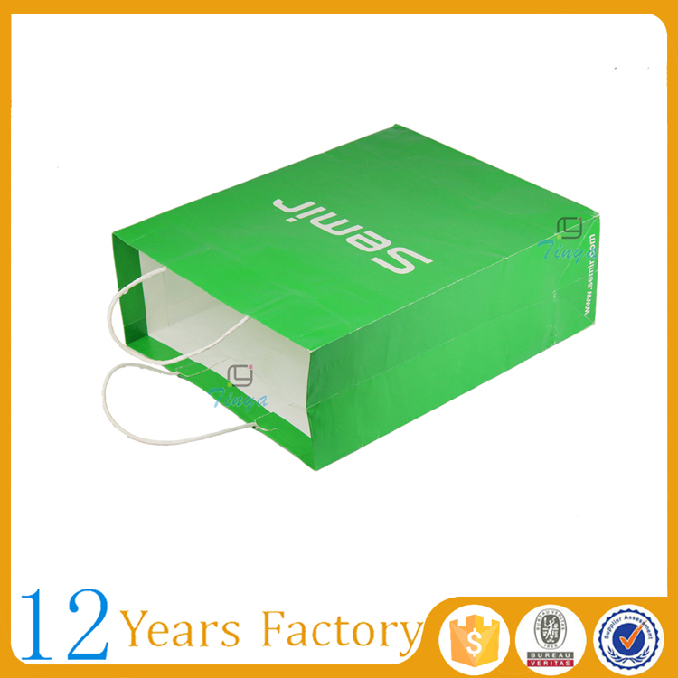 famous brand lime green paper bags