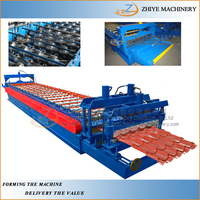 Automatic New Condition Glazed Roof Panel Step Tile Cold Bending Forming Machine