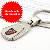 Wholesale Bulk Fashion Metal Custom Car Brand Logo Leather Keychain ,Personalized Manufacturers Made