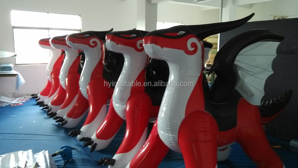 2015 new PVC inflatable zenith dragon, giant inflatable red dragon