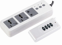 Smart RF and saving energy three holes remote control extension socket