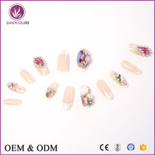 Women Finger Beauty Decoration Tips 3d Design Full Cover Acrylic Fake Nails