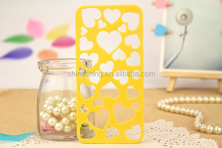 Cute Candy Color Loving Heart Hard Phone Case Cover For iPhone 5 5S