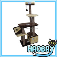 fashion cat tree with hanging toy/lazy cat tree/cat scratcher cat bed