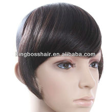 Brazilian human hair Fashion Dark Brown Women Hair wig band Headband Hairpiece Clip-on Bangs Fringe Wigs