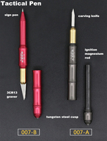 Surface anodized tactical pen