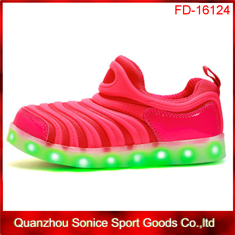 2017 new design high quality kids led shoes for wholesale,kids ligh up shoes