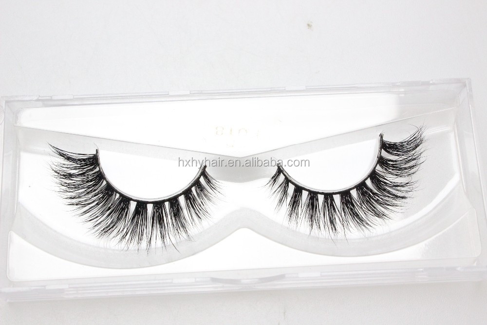 2016 Best selling premium 3D faux mink false eyelashes 0.07 silk strip lashes