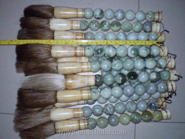 greyish white decorative chinese calligraphy brushes jade bead decorative chinese calligraphy brushes