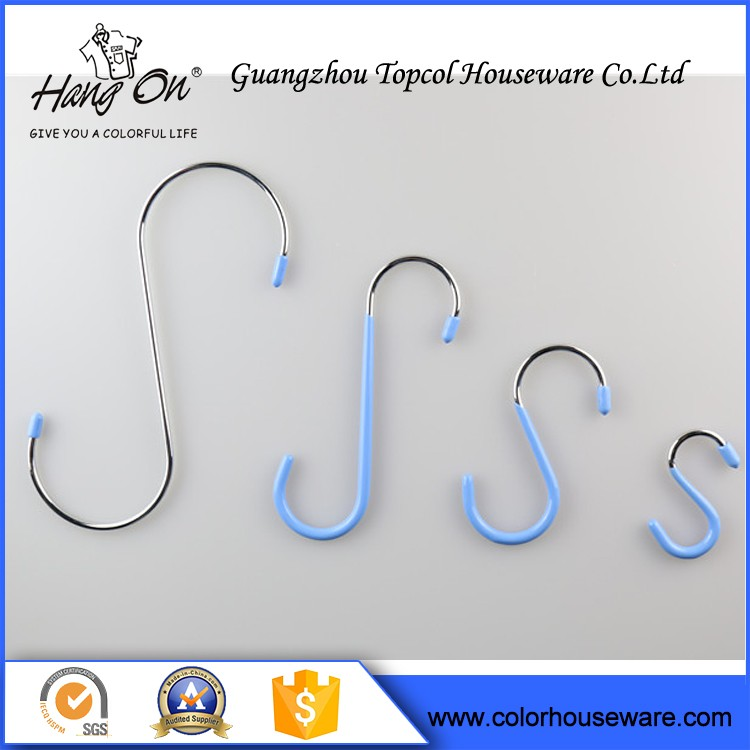 Customized Thickness Stainless Metal hanging S hook
