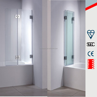 360 Degree full foldable hinge shower screen, 3 Fold Bath Shower Screen Door Panel BT010