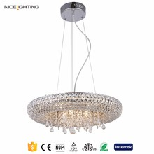 Chrome LED Used hotel wholesale round crystal chandelier from hotel