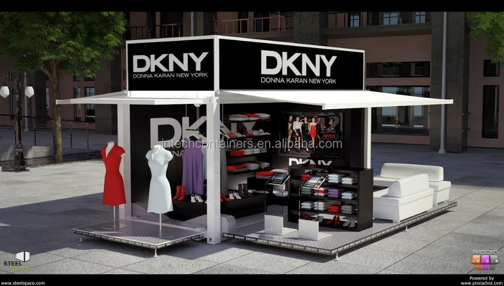 Clothing booth shown room mobile container shop