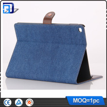 lowest price wallet stand case for ipad covers for ipad Air 2 9.7 with jeans grain