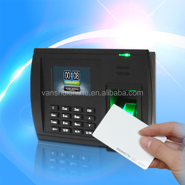 fingerprint and rfid card time attendance with SMS, WIFI for optional