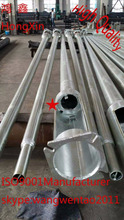 7M round galvanized street lighting pole/lamp post/metal column