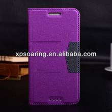 for HTC one M7 Mobile phone leather case cover