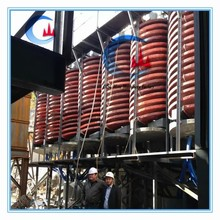 spiral concentrator chute for titanium ore separating