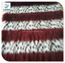 luxurious beautiful three color jacquard imitation fur fake fur fabric faux fur
