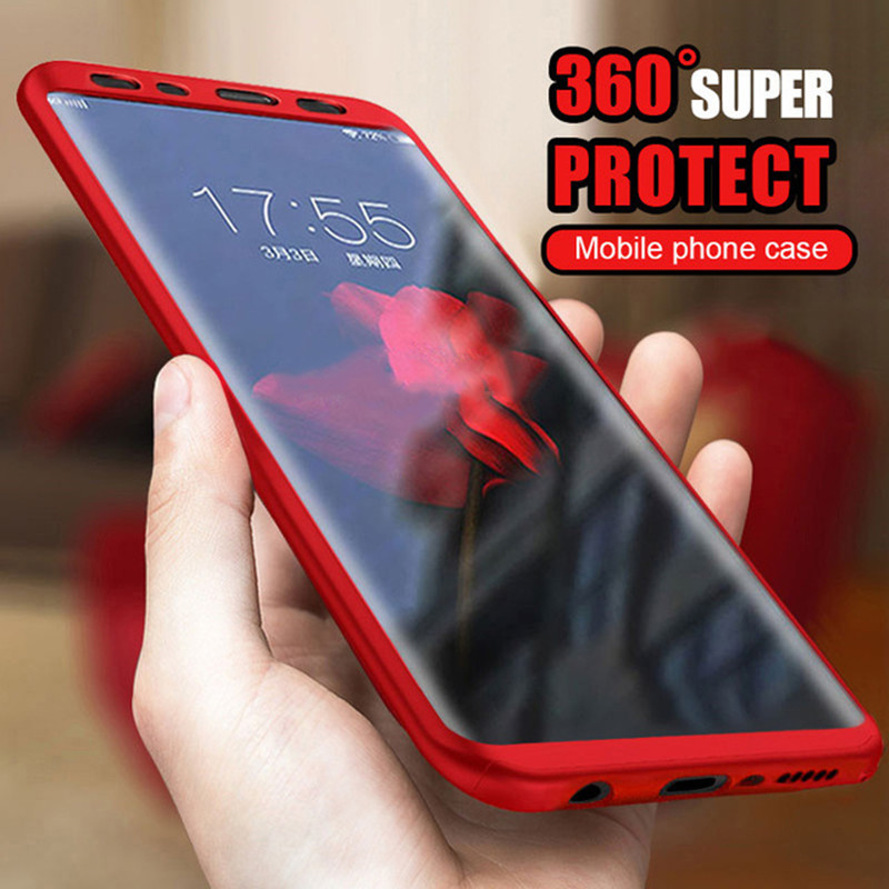 For Samsung Galaxy S8 Case 360 Degree Ultra-thin Hard Case Nano Glass Full Protector Phone Cover for Samsung S8 Plus Case