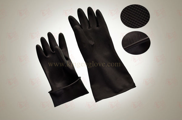 Industrial latex gloves in safty gloves