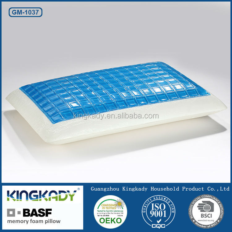 Wholesale cheap price aqua gel health care good sleeping shredded memory foam pillow