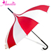 Stripe Classic Style Hand-sewed Pongee Fabric Sun Pagoda Umbrella White/Red Wedding Parasol