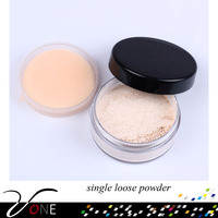 natural single loose face powder with high quality and lower price, 6 colors