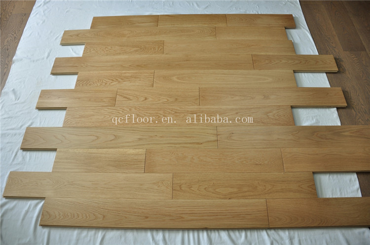 Indoor usage oak solid engineered parquet wood flooring