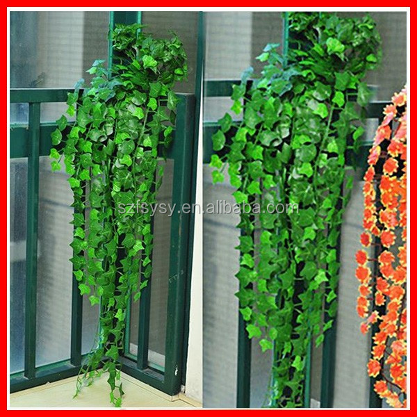 2016 Very Hot Artifical Plastic Ivy Leaf Garland Plants Vine Fake Foliage Flowers For Fence In Everywhere