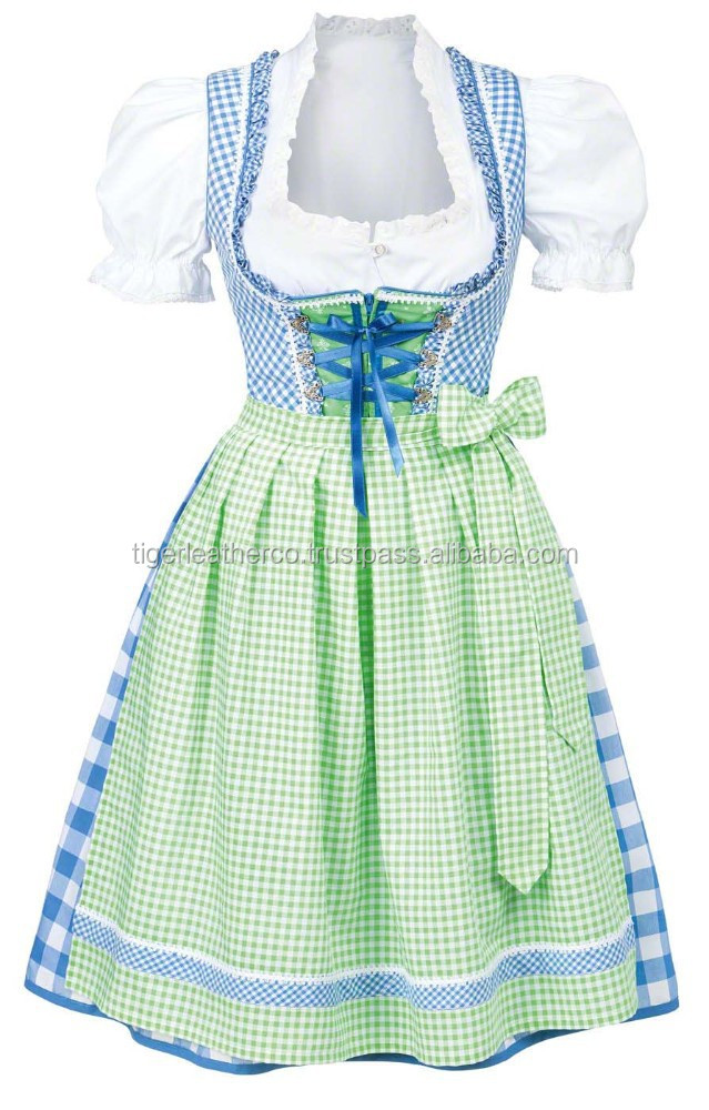 100% cotton high quality women custom trachten dirndl for oktoberfest 2015