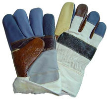 Brand MHR cowhide split leather welding glove reinforced industrial glove manufacturer penang